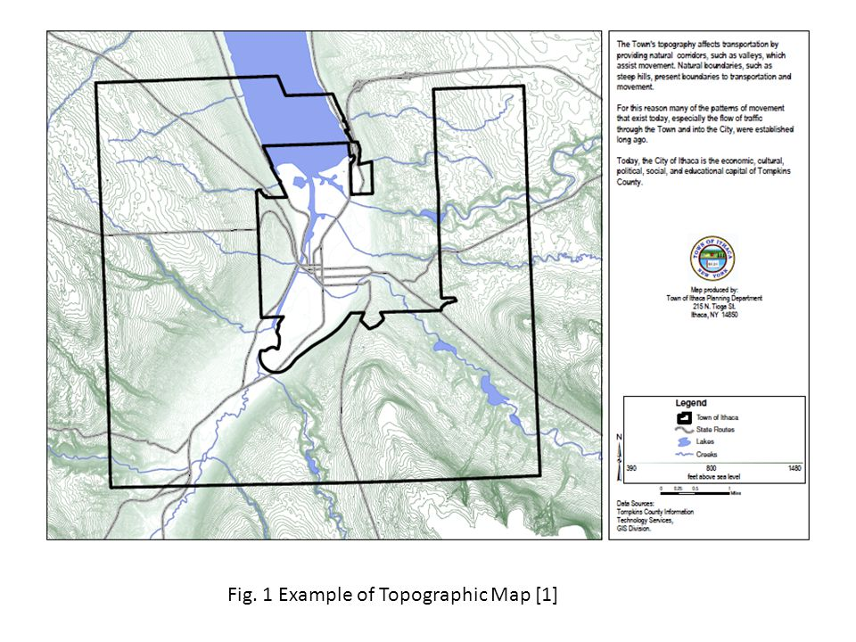 Fig. 1 Example of Topographic Map [1]